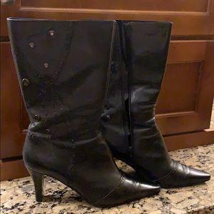 Bandolino boots size 9-  black leather